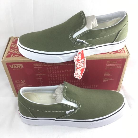 7ef3e9dad1 Vans Classic Slip On shoes green men skate